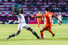 SISAKET THAILAND-MAY 28: Jaime Braganca of Chonburi FC. (white) Royalty Free Stock Photos