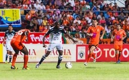 SISAKET THAILAND-MAY 28: Jaime Braganca of Chonburi FC. (white) Stock Image