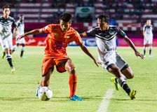 SISAKET THAILAND-MAY 28: Jakkapong Somboon of Sisaket FC. Royalty Free Stock Photo