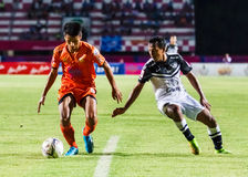 SISAKET THAILAND-MAY 28: Jakkapong Somboon of Sisaket FC. Royalty Free Stock Image