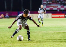 SISAKET THAILAND-MAY 28: Nurul Sriyankem of Chonburi FC. Royalty Free Stock Photography