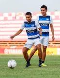 SISAKET THAILAND-MAY 28: Pipob On-Mo of Chonburi FC. Royalty Free Stock Photo