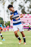 SISAKET THAILAND-MAY 28: Suttinun Phuk-hom of Chonburi FC. Royalty Free Stock Photos
