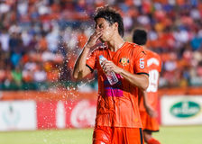 SISAKET THAILAND-MAY 28: Terukazu Tanaka of Sisaket FC. Royalty Free Stock Image