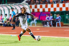 SISAKET THAILAND-MAY 28: Therdsak Chaiman of Chonburi FC. Royalty Free Stock Images
