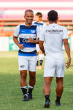 SISAKET THAILAND-MAY 28: Therdsak Chaiman of Chonburi FC. Stock Photography