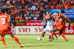 SISAKET THAILAND-MAY 28: Therdsak Chaiman of Chonburi FC. white Royalty Free Stock Photos