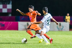 SISAKET THAILAND-OCTOBER 29: Alongkorn Pratoomwong of Sisaket FC Stock Photo