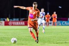 SISAKET THAILAND-OCTOBER 22: Brent McGrath of Sisaket FC. Stock Image