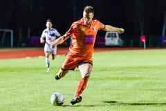 SISAKET THAILAND-OCTOBER 22: Brent McGrath of Sisaket FC. Royalty Free Stock Photos