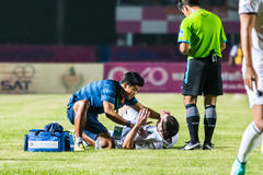 SISAKET THAILAND-OCTOBER 15: First aid team of Buriram Utd. Stock Image