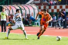 SISAKET THAILAND-OCTOBER 29: Gorka Unda av Sisaket FC Arkivfoton