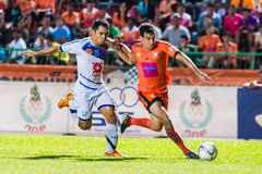 SISAKET THAILAND-OCTOBER 22: Gorka Unda of Sisaket FC. Royalty Free Stock Images