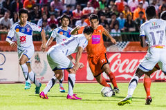 SISAKET THAILAND-OCTOBER 22: Gorka Unda of Sisaket FC. Stock Photography