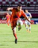 SISAKET THAILAND-OCTOBER 22: Gorka Unda of Sisaket FC. Royalty Free Stock Photography