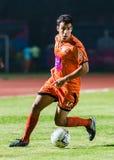 SISAKET THAILAND-OCTOBER 15: Gorka Unda of Sisaket FC. Royalty Free Stock Images