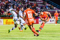 SISAKET THAILAND-OCTOBER 22: Gorka Unda of Sisaket FC. Stock Image