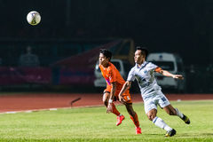 SISAKET THAILAND-OCTOBER 15: Jakkraphan Kaewprom of Buriram Utd. in action during Thai Premier League between Sisaket FC and stock photography
