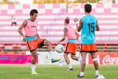 SISAKET THAILAND-OCTOBER 29: Komkrit Camsokchuerk Sisaket FC Zdjęcie Stock