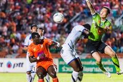 SISAKET THAILAND-OCTOBER 22: Kosin Hembut av flygvapencentralen FC Royaltyfria Bilder