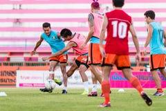 SISAKET THAILAND-OCTOBER 29: Santirad W Sisaket FC Zdjęcie Stock