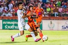 SISAKET THAILAND-OCTOBER 29: Santirad Wiang-i av Sisaket FC Royaltyfri Foto