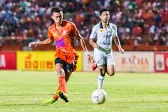 SISAKET THAILAND-OCTOBER 29: Santirad Wiang-in of Sisaket FC. Royalty Free Stock Images