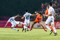 SISAKET THAILAND-OCTOBER 15: Sarayuth Chaikamdee av Sisaket FC Royaltyfri Foto