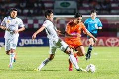 SISAKET THAILAND-OCTOBER 29: Sarayuth Chaikamdee av Sisaket FC Fotografering för Bildbyråer