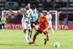 SISAKET THAILAND-OCTOBER 29: Sarayuth Chaikamdee av Sisaket FC Arkivfoton