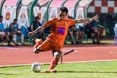 SISAKET THAILAND-OCTOBER 15: Tatree Seeha av Sisaket FC Arkivbild