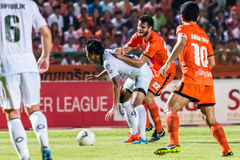SISAKET THAILAND-OCTOBER 29: Victor Amaro av Sisaket FC Arkivfoton