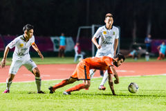 SISAKET THAILAND-OCTOBER 29: Victor Amaro av Sisaket FC Royaltyfri Bild