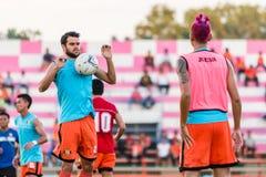 SISAKET THAILAND-OCTOBER 29: Zwycięzca Amaro Sisaket FC Obraz Royalty Free