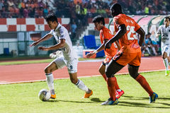 SISAKET 15 Thailand-Oktober: Adisak Kraisorn van Buriram Utd Stock Fotografie