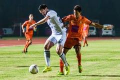 SISAKET Thailand-Oktober 15: Andres Tunez av Buriram Utd Royaltyfri Foto