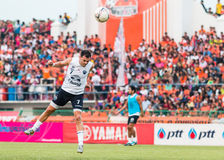 SISAKET Thailand-Oktober 15: Carmelo Gonzalez av Buriram Utd Royaltyfria Foton
