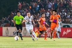 SISAKET Thailand-Oktober 15: Carmelo Gonzalez av Buriram Utd Arkivbild