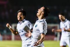 SISAKET Thailand-Oktober 15: Carmelo Gonzalez av Buriram Utd Royaltyfri Bild