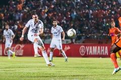 SISAKET 15 Thailand-Oktober: Carmelo Gonzalez van Buriram Utd Royalty-vrije Stock Afbeelding