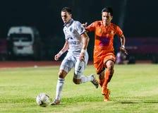 SISAKET THAILAND 15. Oktober: Carmelo Gonzalez von Buriram UTD Lizenzfreie Stockfotos