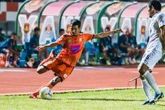 SISAKET 15 THAILAND-OKTOBER: Jakkapong Somboon van Sisaket FC Royalty-vrije Stock Foto