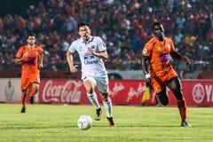 SISAKET 15 Thailand-Oktober: Javier Patino van Buriram Utd Royalty-vrije Stock Foto