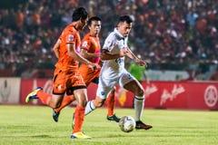 SISAKET 15 Thailand-Oktober: Javier Patino van Buriram Utd Royalty-vrije Stock Fotografie