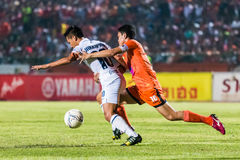 SISAKET THAILAND 15. OKTOBER: Sarayuth Chaikamdee von Sisaket FC Stockfotografie
