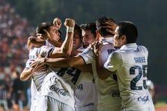 SISAKET 15 Thailand-Oktober: Spelers van Buriram Utd stock afbeeldingen