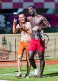 SISAKET THAILAND 29. OKTOBER: Taneth Kuerat, Vorsitzender von Sisaket FC Stockfotografie