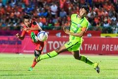 SISAKET THAILAND 12. SEPTEMBER: Anucha Suksai von Sisaket FC (ora Lizenzfreie Stockbilder