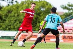 SISAKET THAILAND-September 17: Brent McGrath of Sisaket FC. Royalty Free Stock Photography