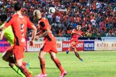 SISAKET THAILAND 12. SEPTEMBER: Chompoo Sangpo von Sisaket FC (oder Stockbilder